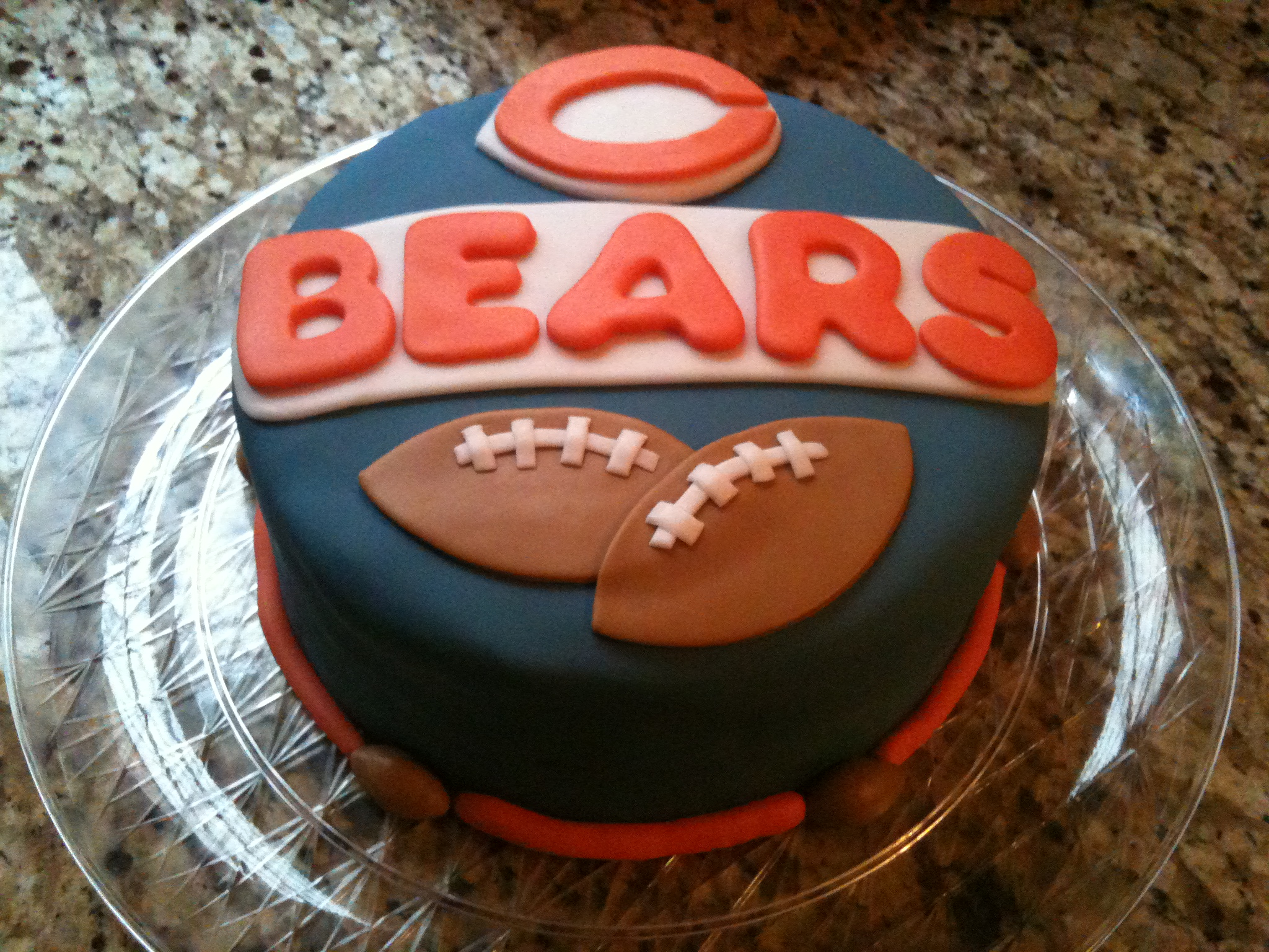 Stupendous Chicago Bears Cakes By Cathy Chicago Funny Birthday Cards Online Fluifree Goldxyz