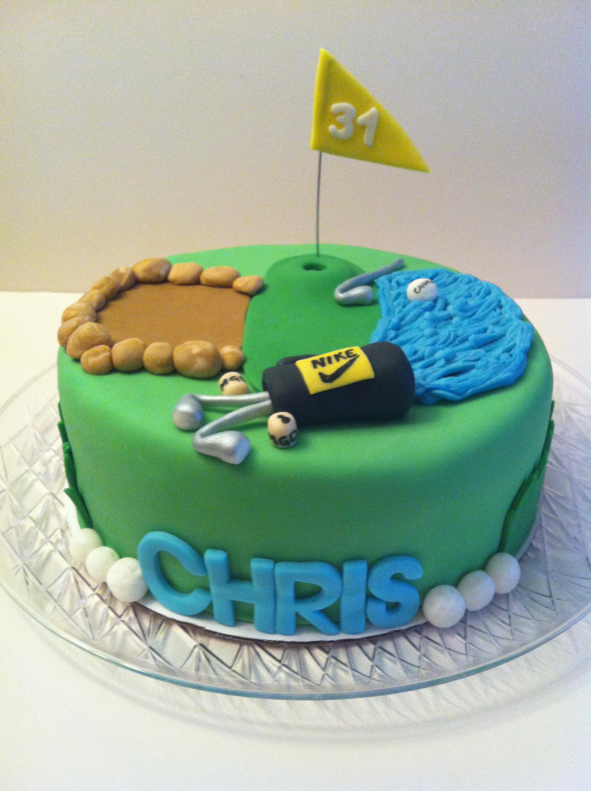 Phenomenal Happy Birthday Golfer Cakes By Cathy Chicago Funny Birthday Cards Online Eattedamsfinfo
