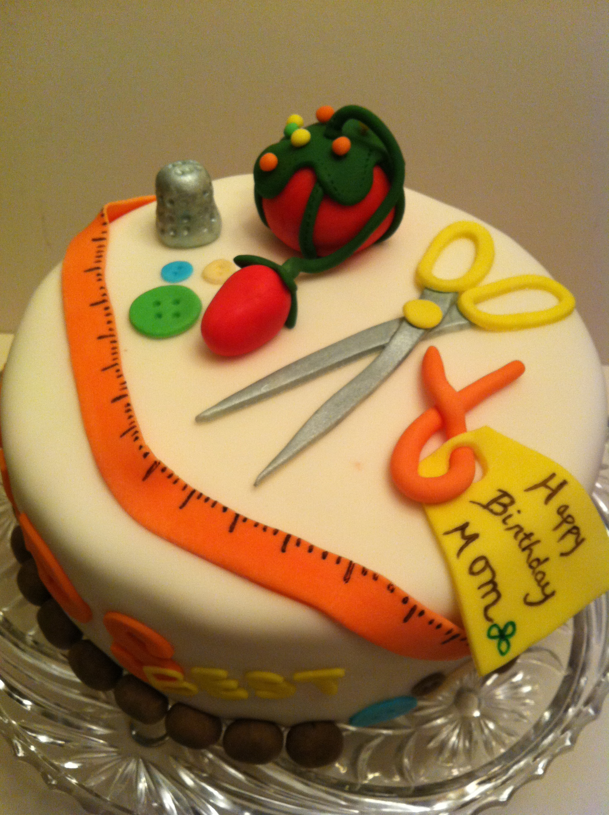 A Sewing SensationHappy Birthday Mom Cakes by Cathy Chicago