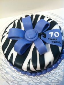 A Little Different Look On The Favorite Zebra Striped Cake Happy Birthday Peggy What Fun Way To Celebrate 70 Wonderful Years