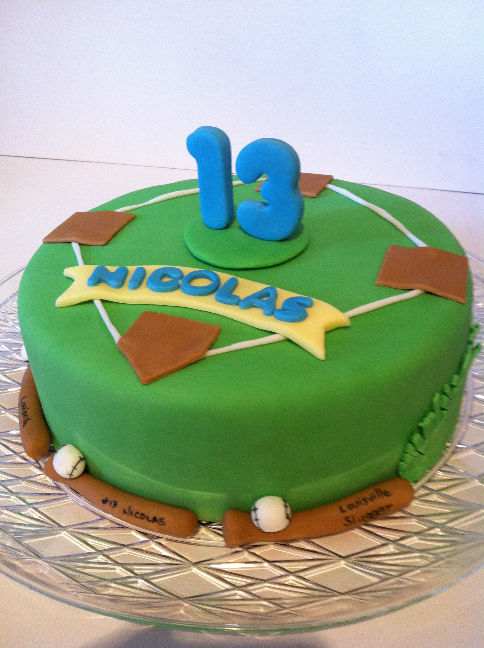 Awe Inspiring Baseball Cake 13 Years Old Cakes By Cathy Chicago Birthday Cards Printable Opercafe Filternl