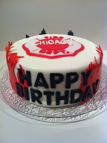 Chicago Fire Fighter Cake Happy Birthday Cakes By Cathy