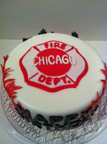 Pleasing Chicago Fire Fighter Cake Happy Birthday Cakes By Cathy Chicago Personalised Birthday Cards Petedlily Jamesorg