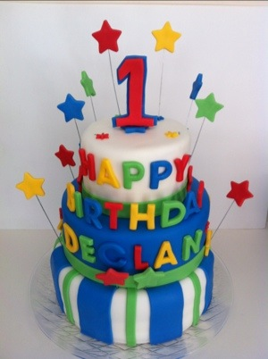 Happy 1st Birthday Declan Cakes By Cathy Chicago