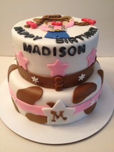 Cowgirl Cake Happy Birthday Madison Cakes By Cathy Chicago