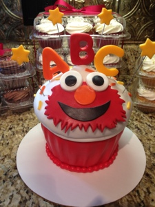 One Giant Elmo Cupcake Cakes By Cathy Chicago