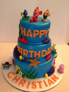 Finding Nemo Happy Birthday Christian Cakes by Cathy Chicago