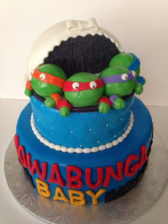 hulk themed showers baby shower cakes baby teenage mutant ninja turtle