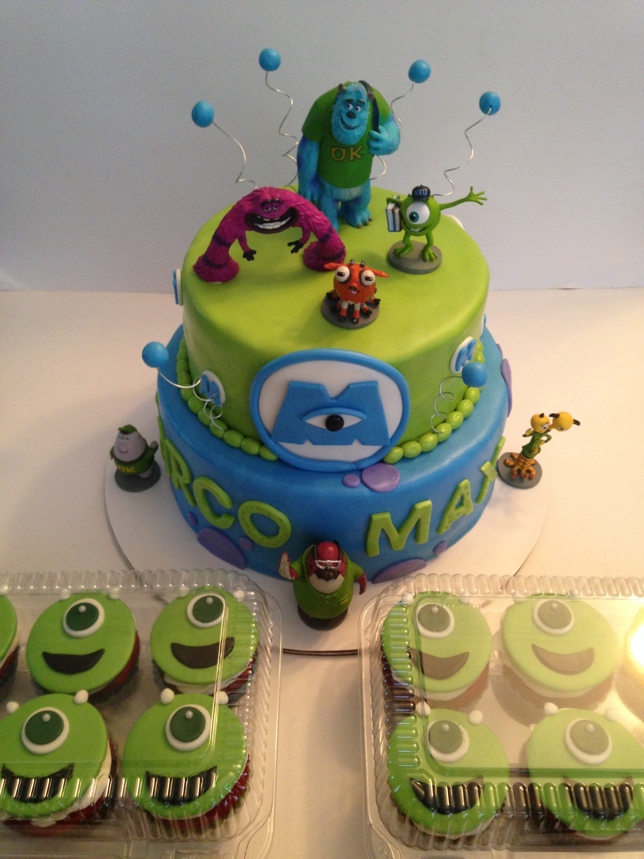 Excellent Monsters University Birthday Cake Cakes By Cathy Chicago Personalised Birthday Cards Veneteletsinfo