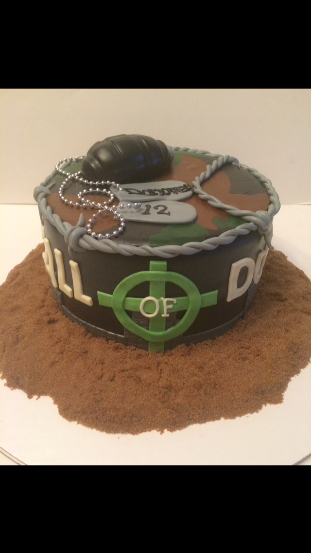 call of duty cake Cakes by Cathy Chicago