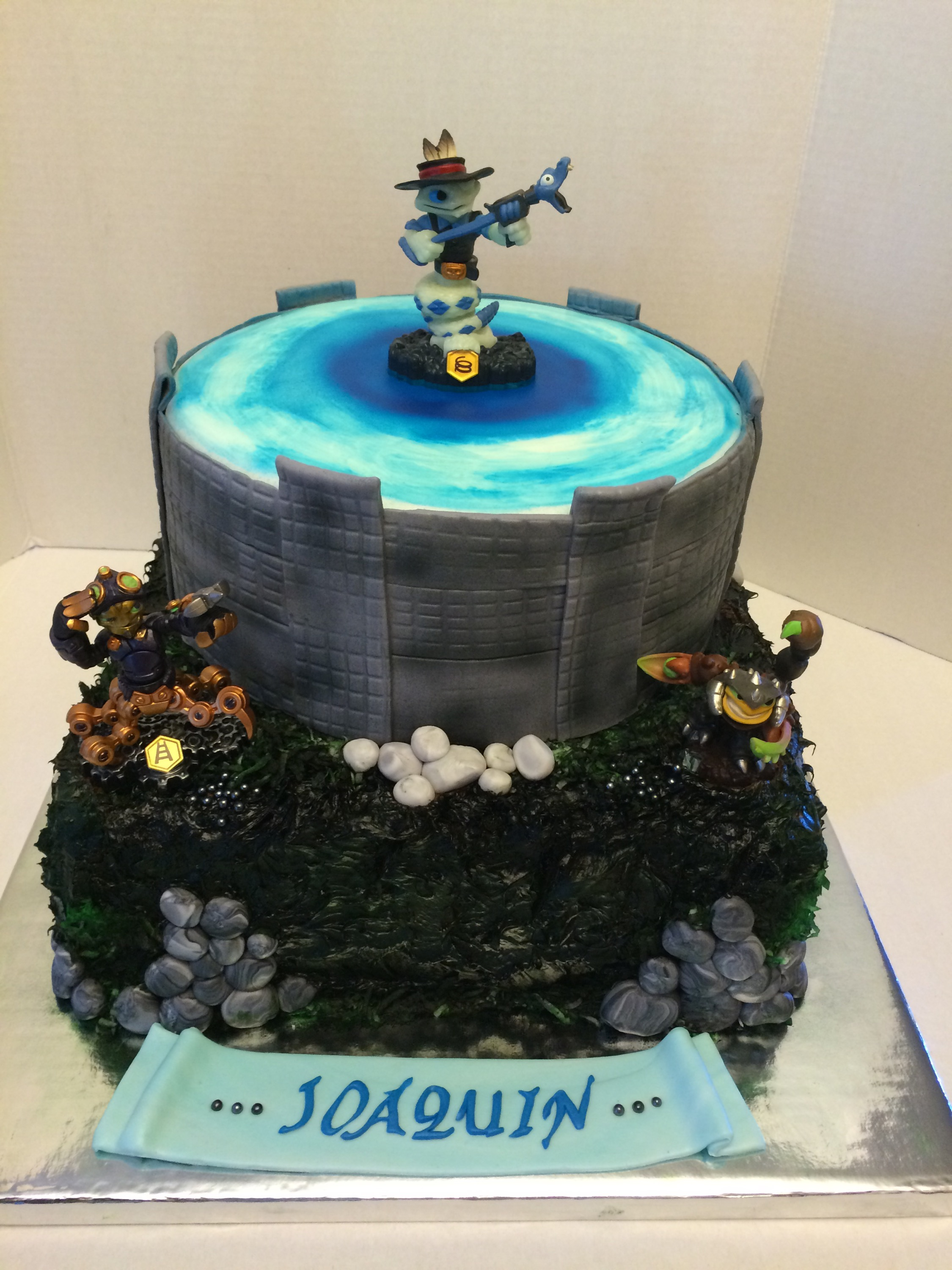 Remarkable Skylander Birthday Cakes Cakes By Cathy Chicago Funny Birthday Cards Online Inifofree Goldxyz